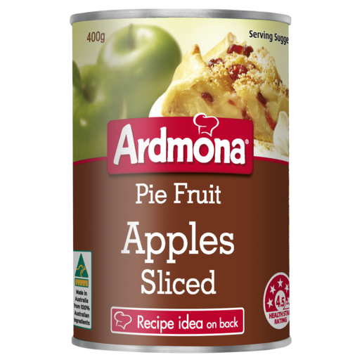 Ardmona Pie Fruit Apples Sliced 400g