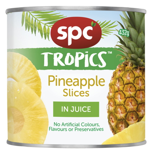 SPC Tropics Pineapple Slices in Juice 432g