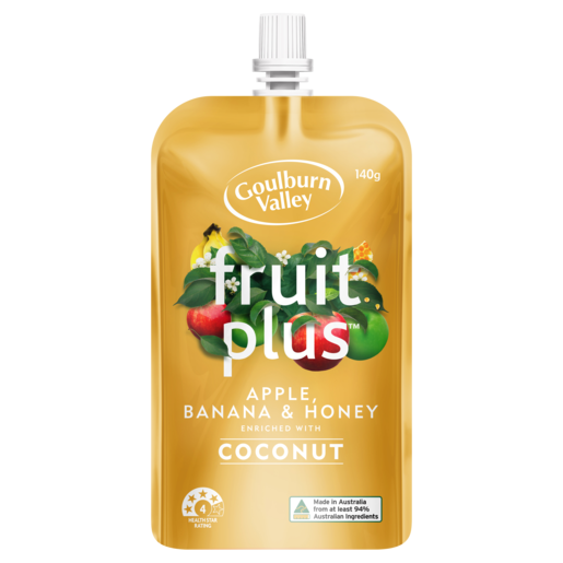 Goulburn Valley Fruit Plus Apple, Banana & Honey 140g