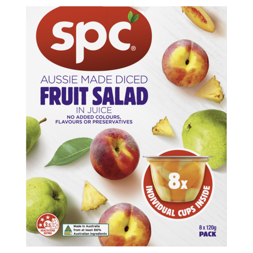 SPC Diced Fruit Salad In Juice 8 x 120g