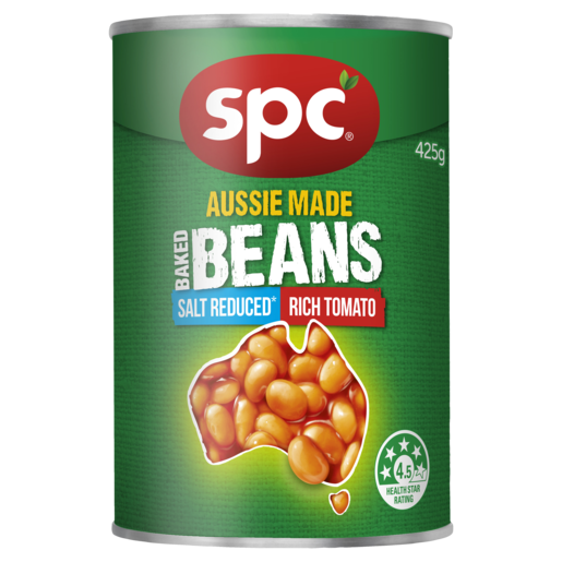 SPC Baked Beans Rich Tomato Salt Reduced 4 x 425g