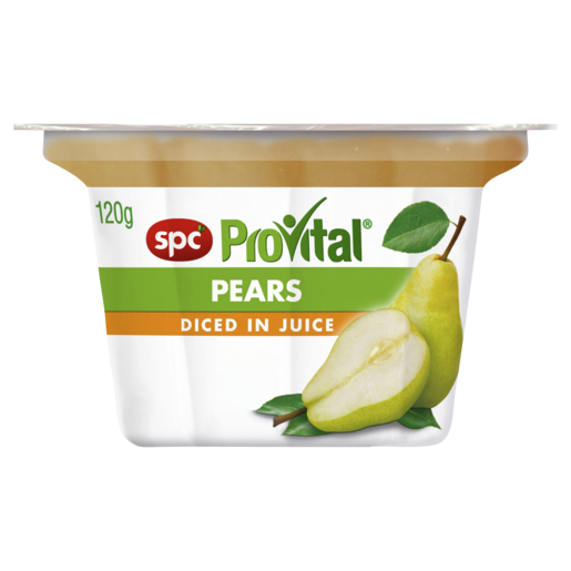 SPC ProVital Pears Diced in Juice 120g