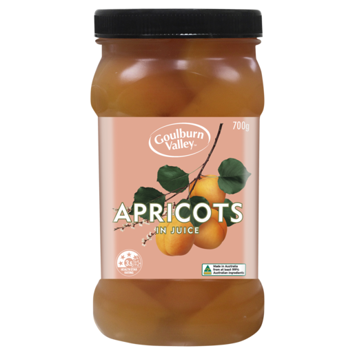 Goulburn Valley Apricot Halves in Juice 700g