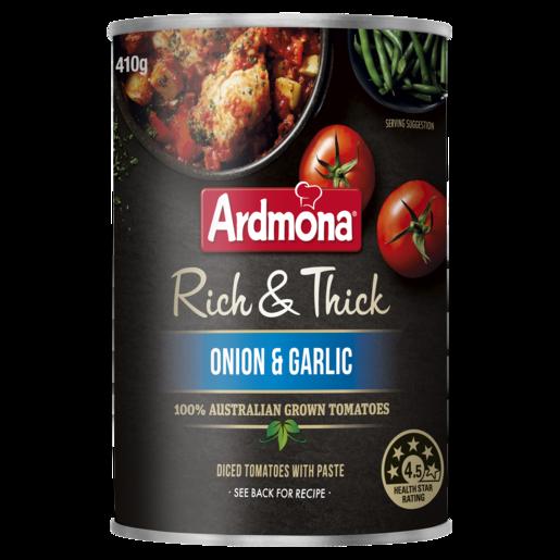 Ardmona Rich & Thick Chopped Tomatoes Onion & Garlic 410g
