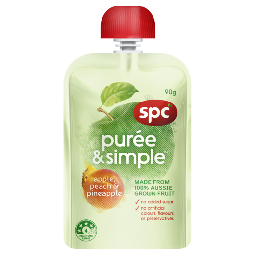 SPC Puree & Simple Apple, Peach & Pineapple 90g