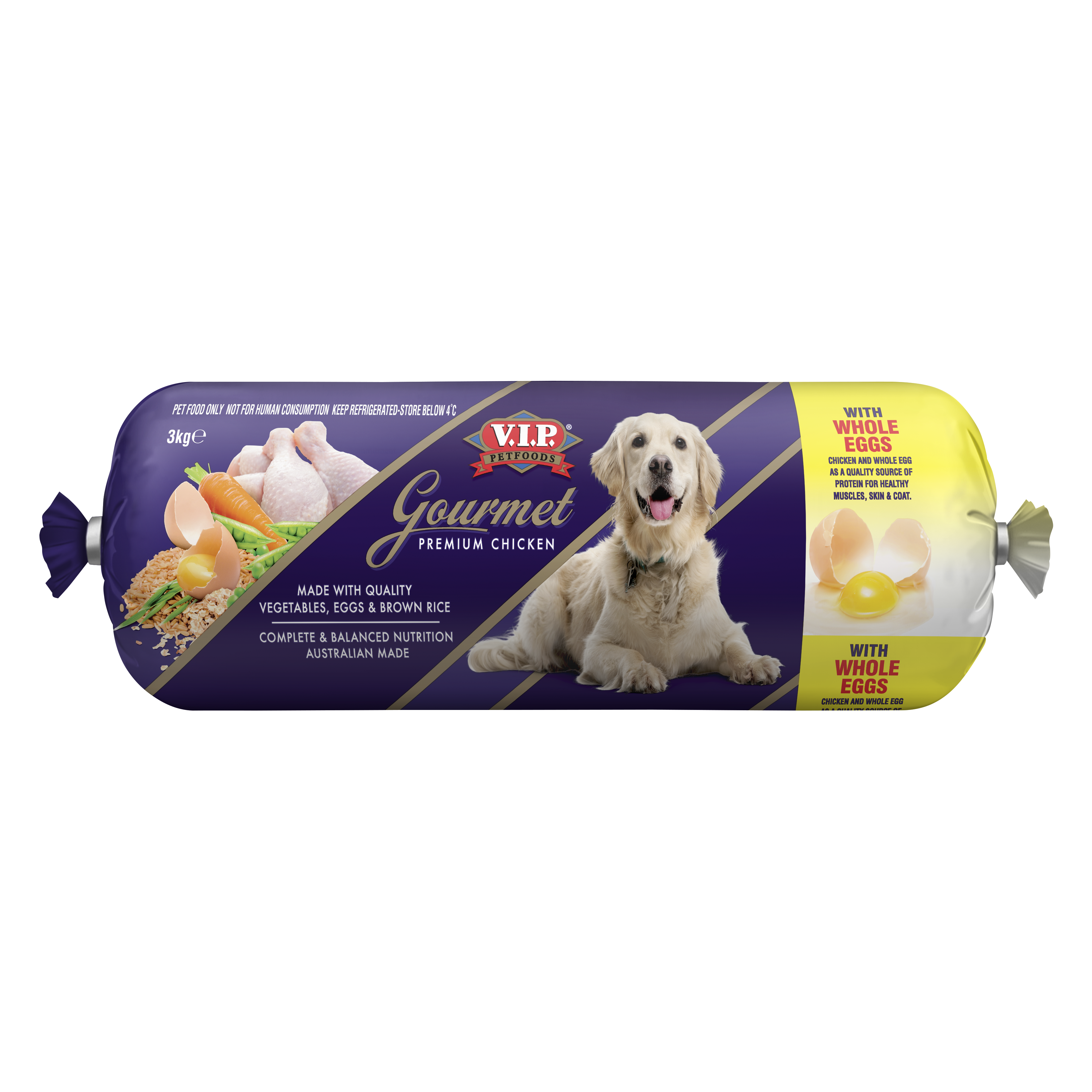 V.I.P. Petfoods | Gourmet Premium Chicken 3kg | Chilled tray | Front of pack